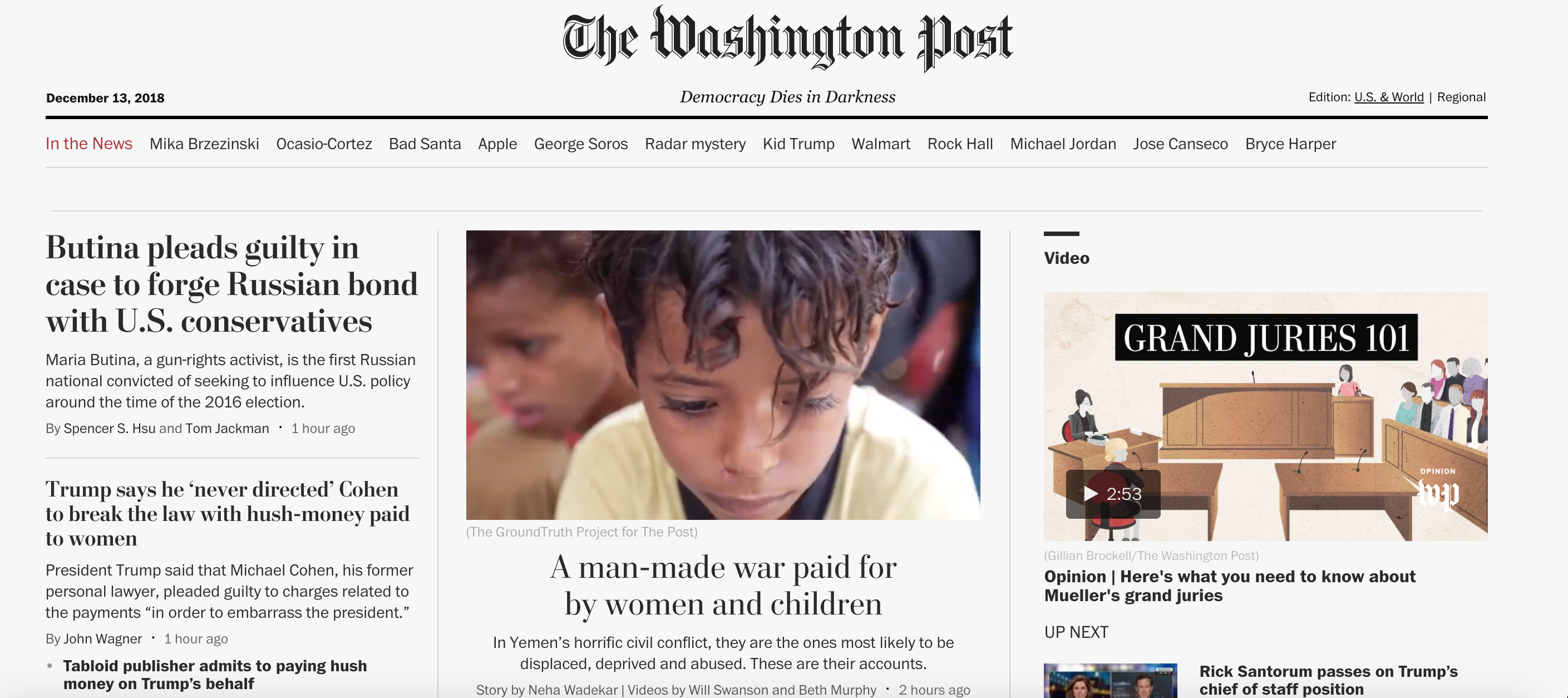 A Man-Made War Paid for by Women and Children – Washington Post (image)