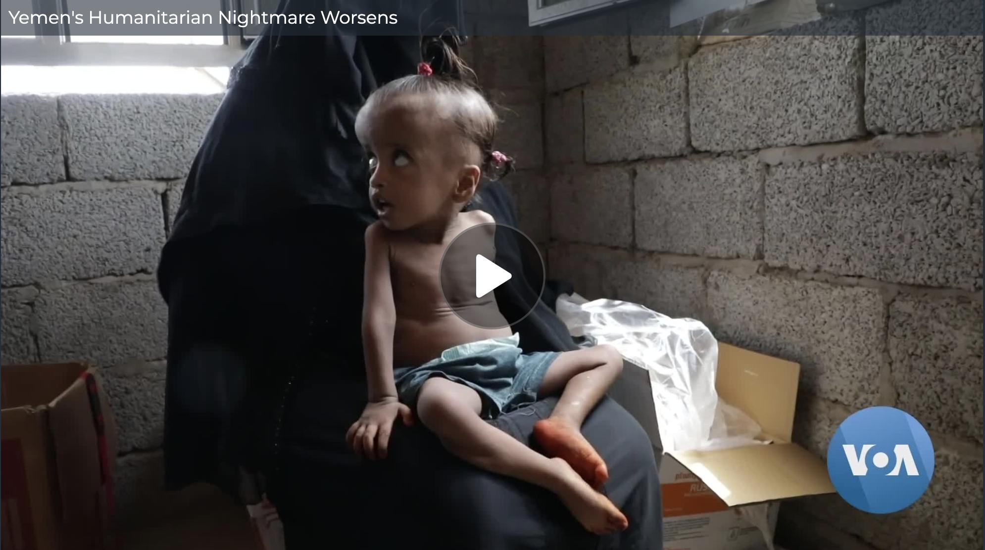 Yemen's Humanitarian Crisis Worsens – Voice of America (image)